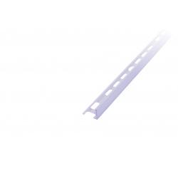 PVC ukonč.lišta s přep., bílá, 8mm/2,5m